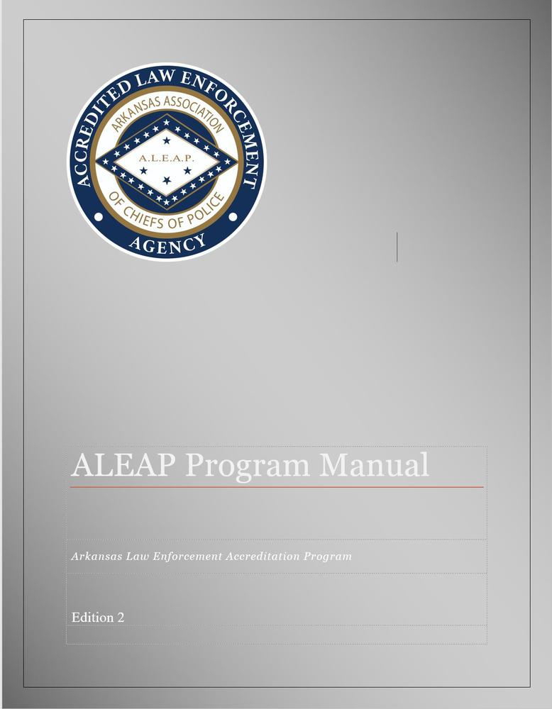ALEAP Program Manual cover