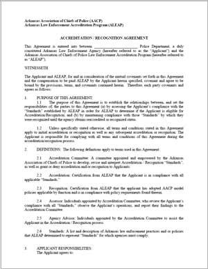ALEAP Agreement cover